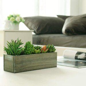 New Artificial Succulent Planter Box